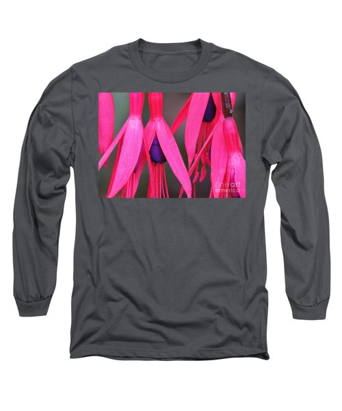 Wild Oregon Fuchsia  Long Sleeve T-Shirt by Michele Penner