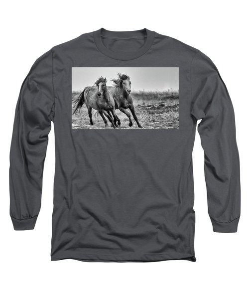 Wild West Wild Horses Long Sleeve T-Shirt