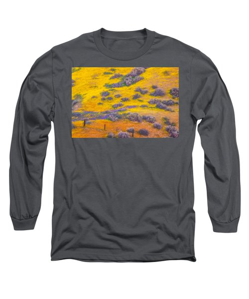 Wildflowers And Fence Long Sleeve T-Shirt