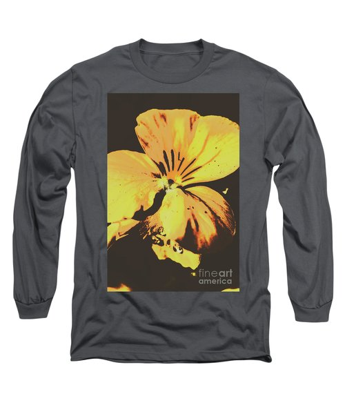 Wildflowers In Posterization Long Sleeve T-Shirt