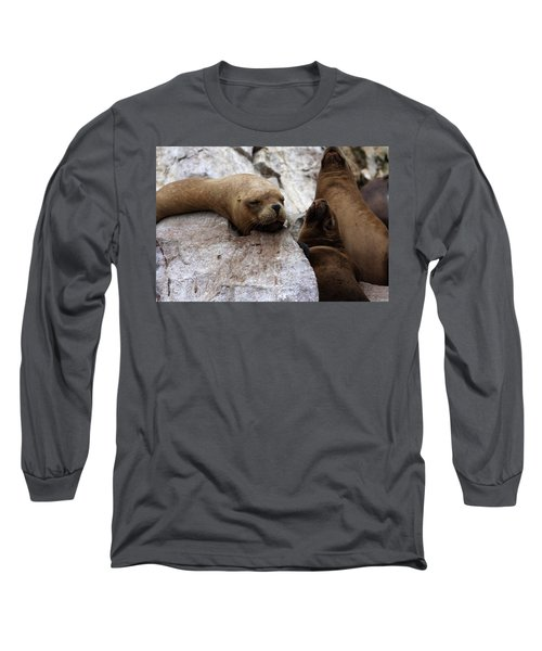Long Sleeve T-Shirt featuring the photograph Wildlife Of The Ballestas Islands by Aidan Moran