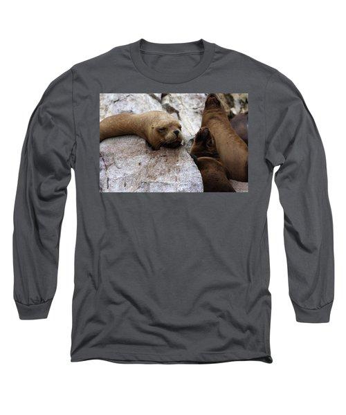 Wildlife Of The Ballestas Islands Long Sleeve T-Shirt by Aidan Moran