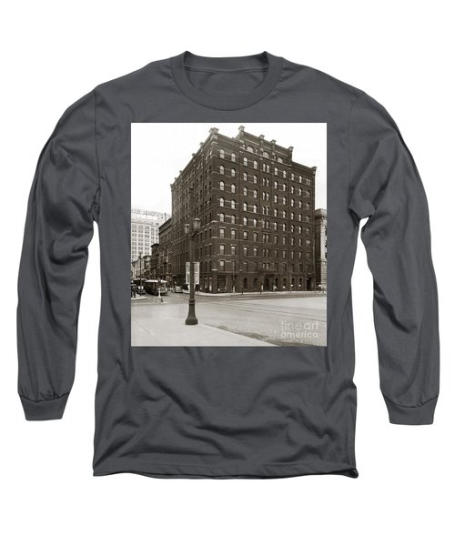 Wilkes Barre Pa Hollenback Coal Exchange Building Corner Of Market And River Sts April 1937 Long Sleeve T-Shirt