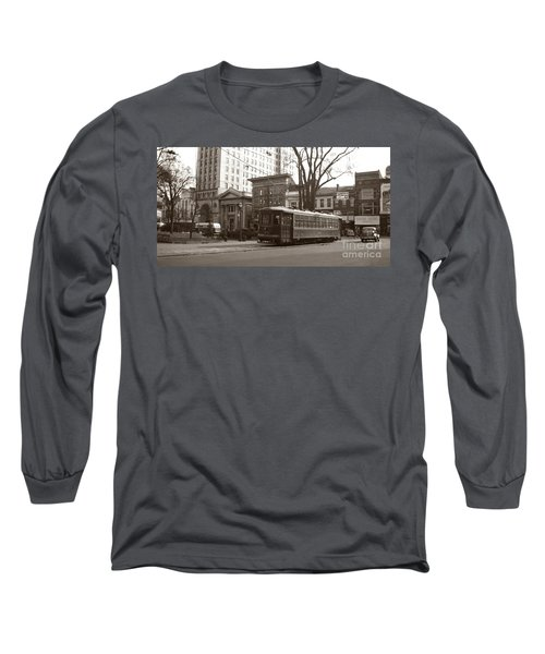 Wilkes Barre Pa Public Square Oct 1940 Long Sleeve T-Shirt