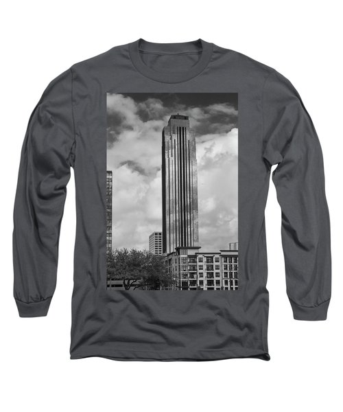 Williams Tower In Black And White Long Sleeve T-Shirt
