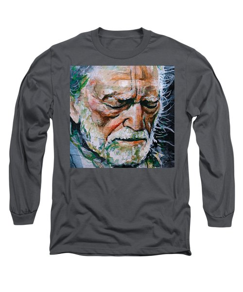 Willie Nelson 7 Long Sleeve T-Shirt by Laur Iduc