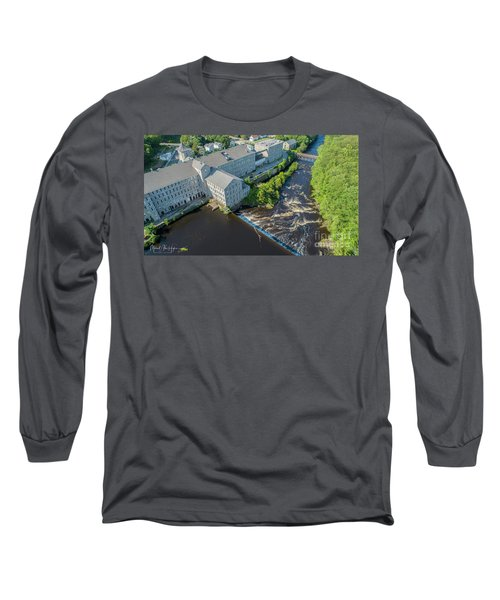 Willimantic River And Mill #2 Long Sleeve T-Shirt