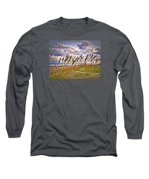 Wind And Waves  ... Long Sleeve T-Shirt by Chuck Caramella