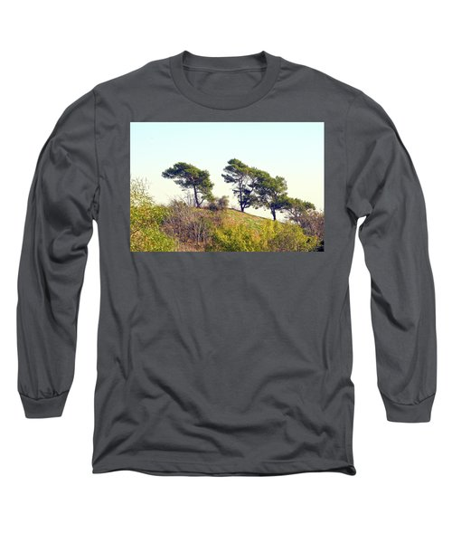 Wind Blown Trees Long Sleeve T-Shirt