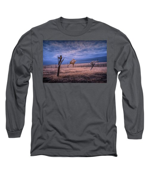 Wind Blown Wash In Infrared On The Clothesline Long Sleeve T-Shirt