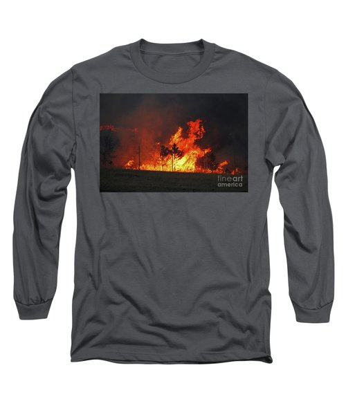 Wildfire Flames Long Sleeve T-Shirt