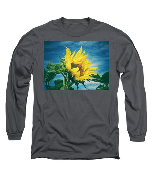 Long Sleeve T-Shirt featuring the photograph Windblown  by Karen Stahlros