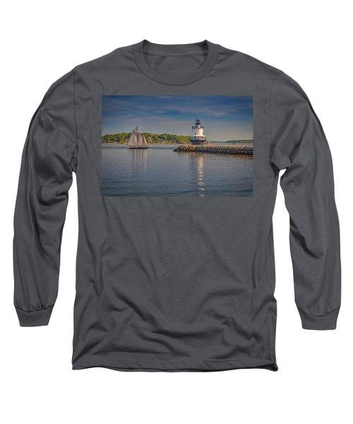 Windjammer At Spring Point Ledge Lighthouse Long Sleeve T-Shirt