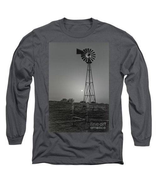 Windmill At Dawn Long Sleeve T-Shirt by Robert Frederick