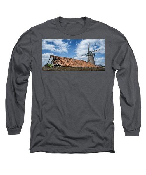 Windmill In Belgium Long Sleeve T-Shirt