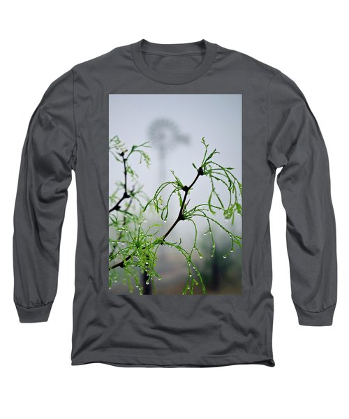 Windmill In The Mist Long Sleeve T-Shirt