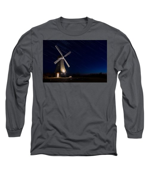 Windmill In The Night Long Sleeve T-Shirt