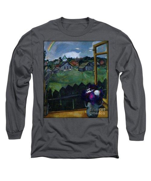 Window At Vitebsk Long Sleeve T-Shirt