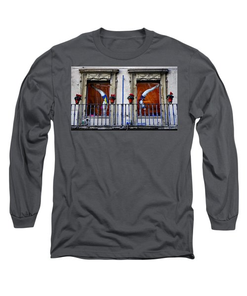 Window Dressing 2 In Florence Italy Long Sleeve T-Shirt