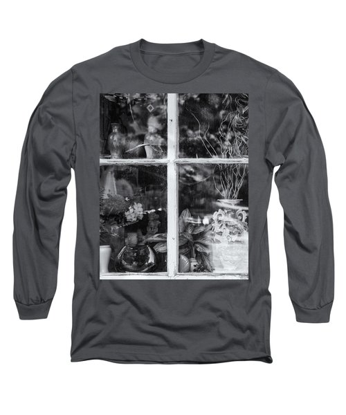 Window In Black And White Long Sleeve T-Shirt