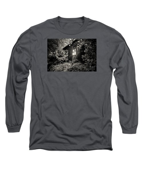 Long Sleeve T-Shirt featuring the photograph Window In The Woods by Randall  Cogle