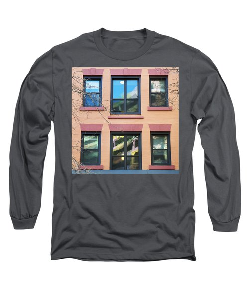 Window Reflections  Long Sleeve T-Shirt by Susan Stone