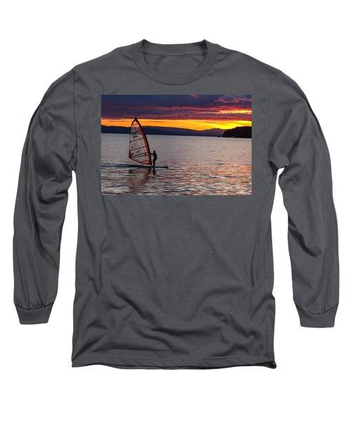 Windsurfing Lake Champlain Long Sleeve T-Shirt