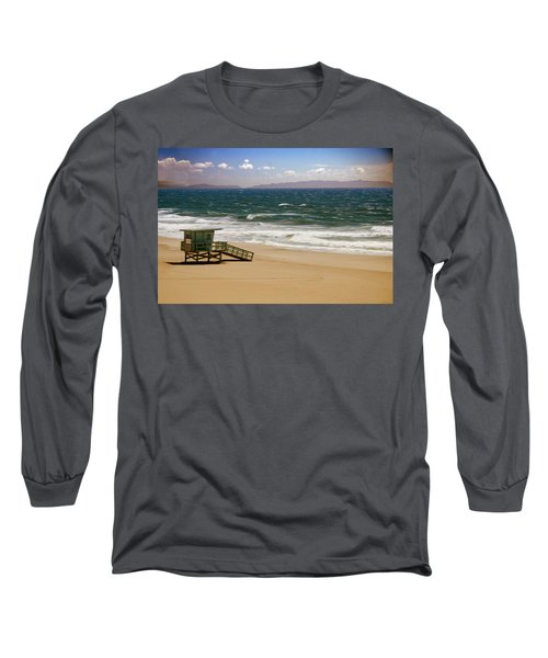 Long Sleeve T-Shirt featuring the photograph Windy Beach Day by Joseph Hollingsworth