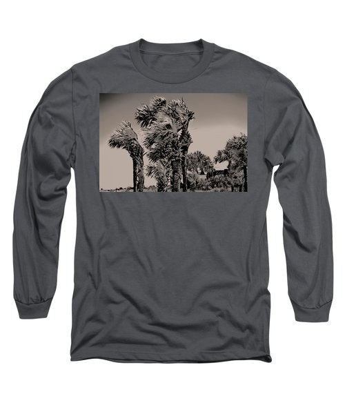 Windy Day At Beach Long Sleeve T-Shirt