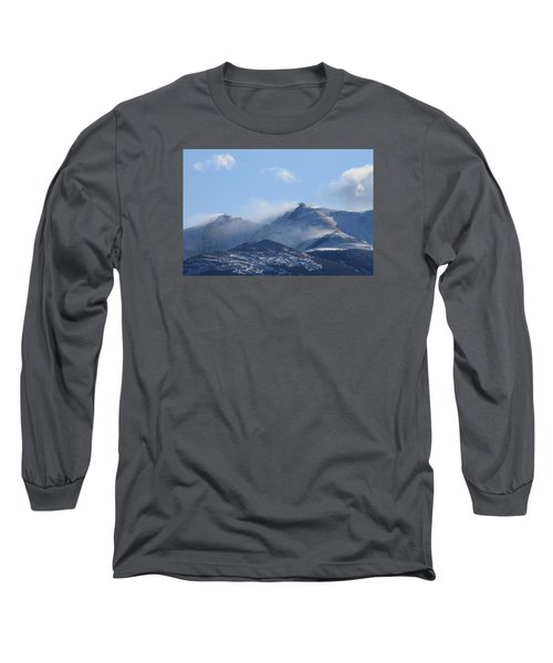Windy Pikes Peak  Long Sleeve T-Shirt by Christopher Kirby