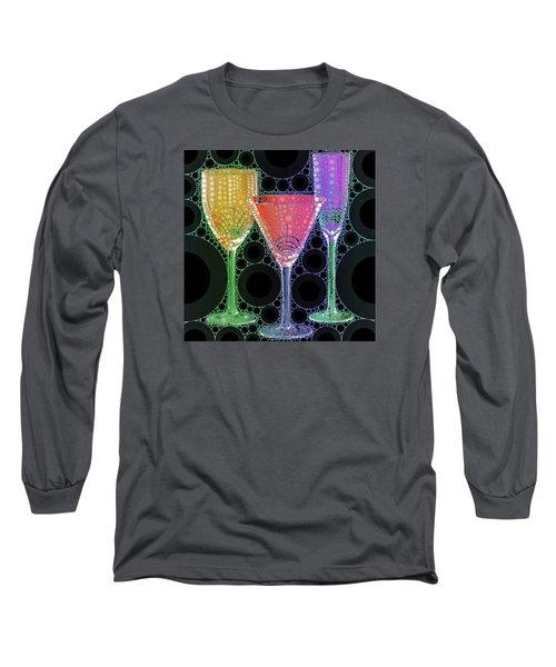 Wine Glass Art-1 Long Sleeve T-Shirt