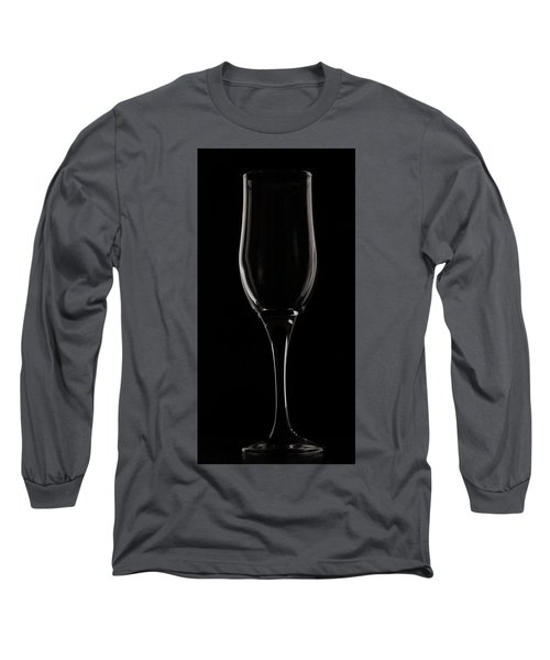Wine Glass Long Sleeve T-Shirt by Sergey Simanovsky