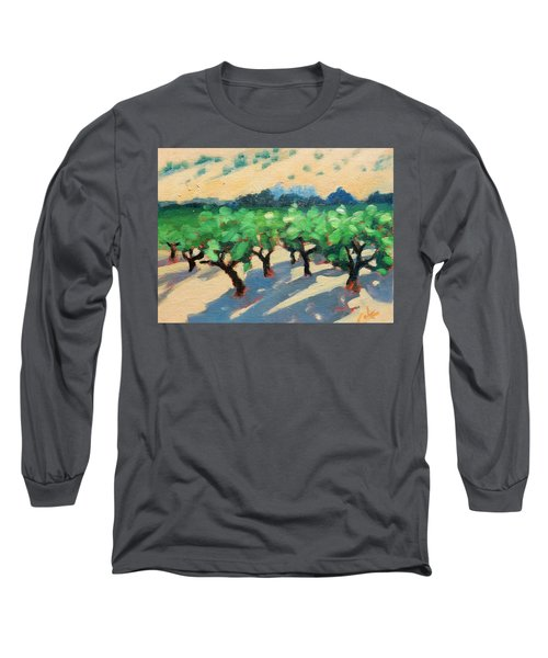 Long Sleeve T-Shirt featuring the painting Wine Habitat by Gary Coleman