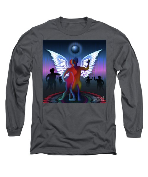 Winged Life Long Sleeve T-Shirt by Rosa Cobos