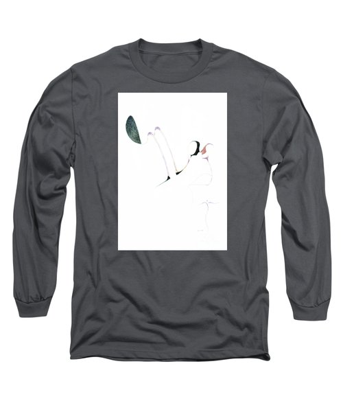 Long Sleeve T-Shirt featuring the drawing Wings by James Lanigan Thompson MFA
