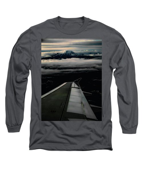 Wings Over Rainier Long Sleeve T-Shirt by Jeffrey Jensen