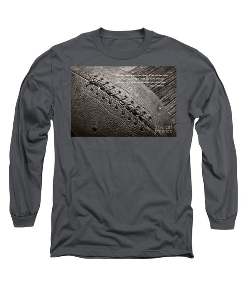 Winning Quote From Vince Lombardi Long Sleeve T-Shirt