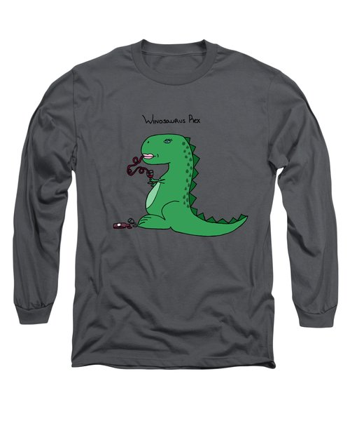 Winosaurus Rex Long Sleeve T-Shirt by Tamera Dion