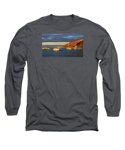 Long Sleeve T-Shirt featuring the photograph Winter Afternoon Sun At Friendly Bay by Nareeta Martin