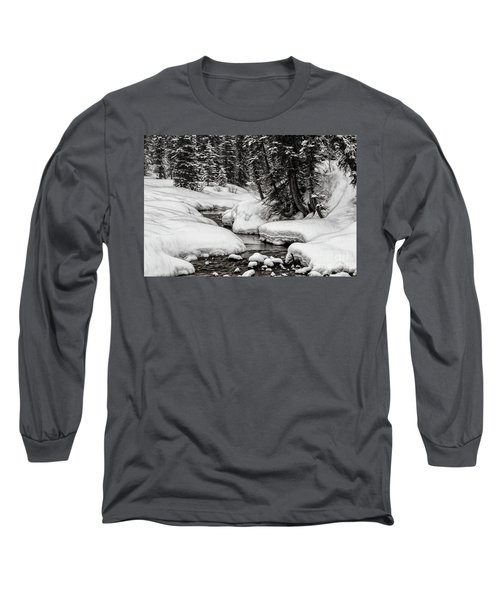 Winter Alpine Creek Long Sleeve T-Shirt