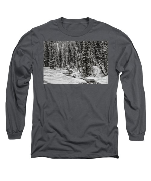 Winter Alpine Creek II Long Sleeve T-Shirt