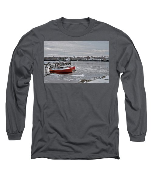 Winter At Newburyport Harbor Long Sleeve T-Shirt
