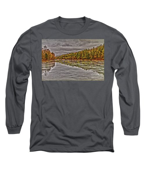 Winter At Pine Lake Long Sleeve T-Shirt