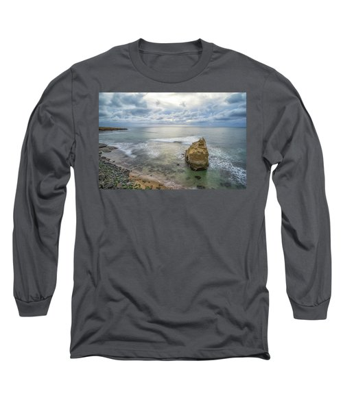 Winter At Sunset Cliffs Long Sleeve T-Shirt by Joseph S Giacalone