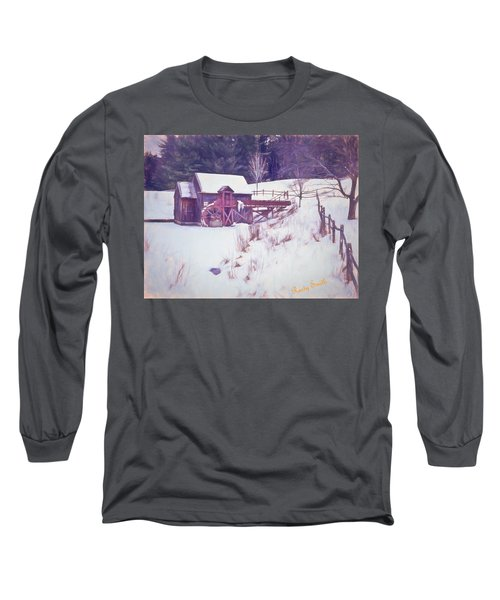 Winter At The Gristmill. Long Sleeve T-Shirt
