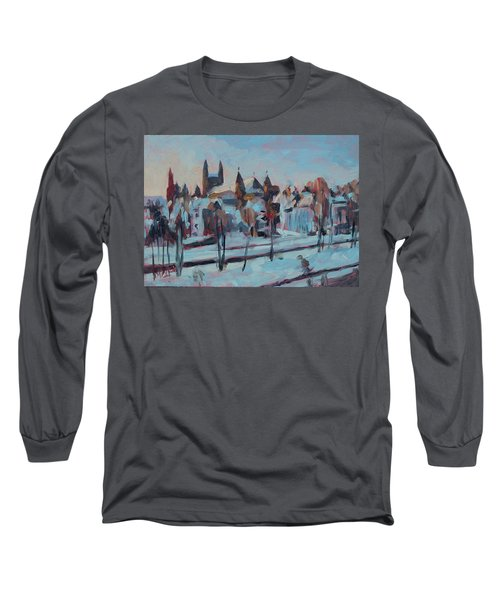 Winter Basilica Our Lady Maastricht Long Sleeve T-Shirt