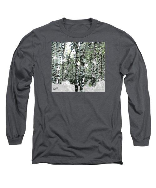 Winter Birches Long Sleeve T-Shirt