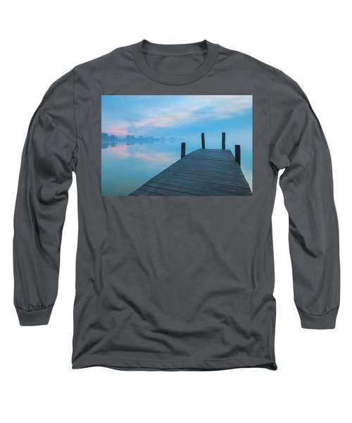 Long Sleeve T-Shirt featuring the photograph Winter Blues by Davor Zerjav