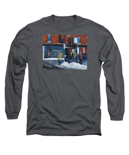 Winter Bus Stop Long Sleeve T-Shirt