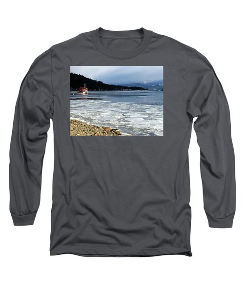 Long Sleeve T-Shirt featuring the photograph Cottage Life In Winter by Victor K